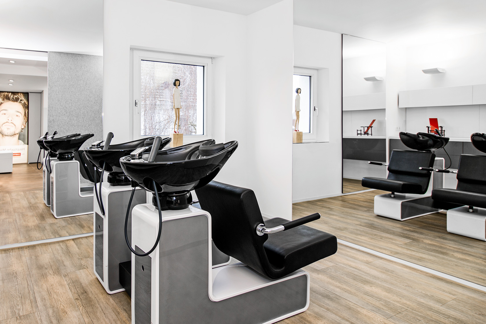 beautiful salon coiffeur moderne images. Black Bedroom Furniture Sets. Home Design Ideas